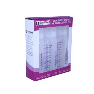 250 Ml Sterile Disposable Bottles with Standard Teats Pack of 3
