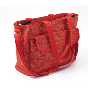 Messenger Changing Bag Red/Gold Swirl