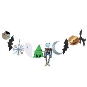 Meri Meri Halloween Foiled Character Garland