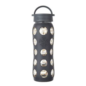 Lifefactory Glass Bottle Classic Cap 22oz/650ml Onyx Freestyle Premium
