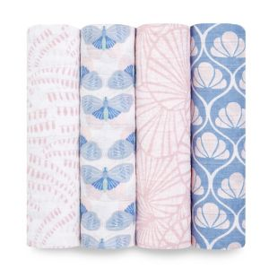Aden + Anais Classic 4 Pack Swaddles Deco