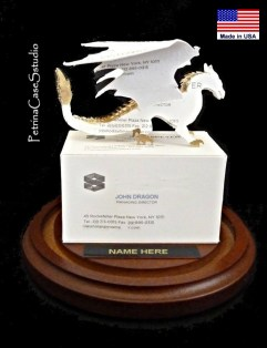 Dragon Buisness Card Sculpture