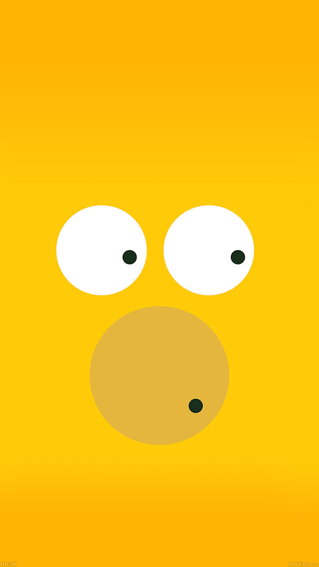 Homer Simpson Wallpaper Hd Aa30 6 Circles Homer Simpson Illust Minimal Art Papers Co
