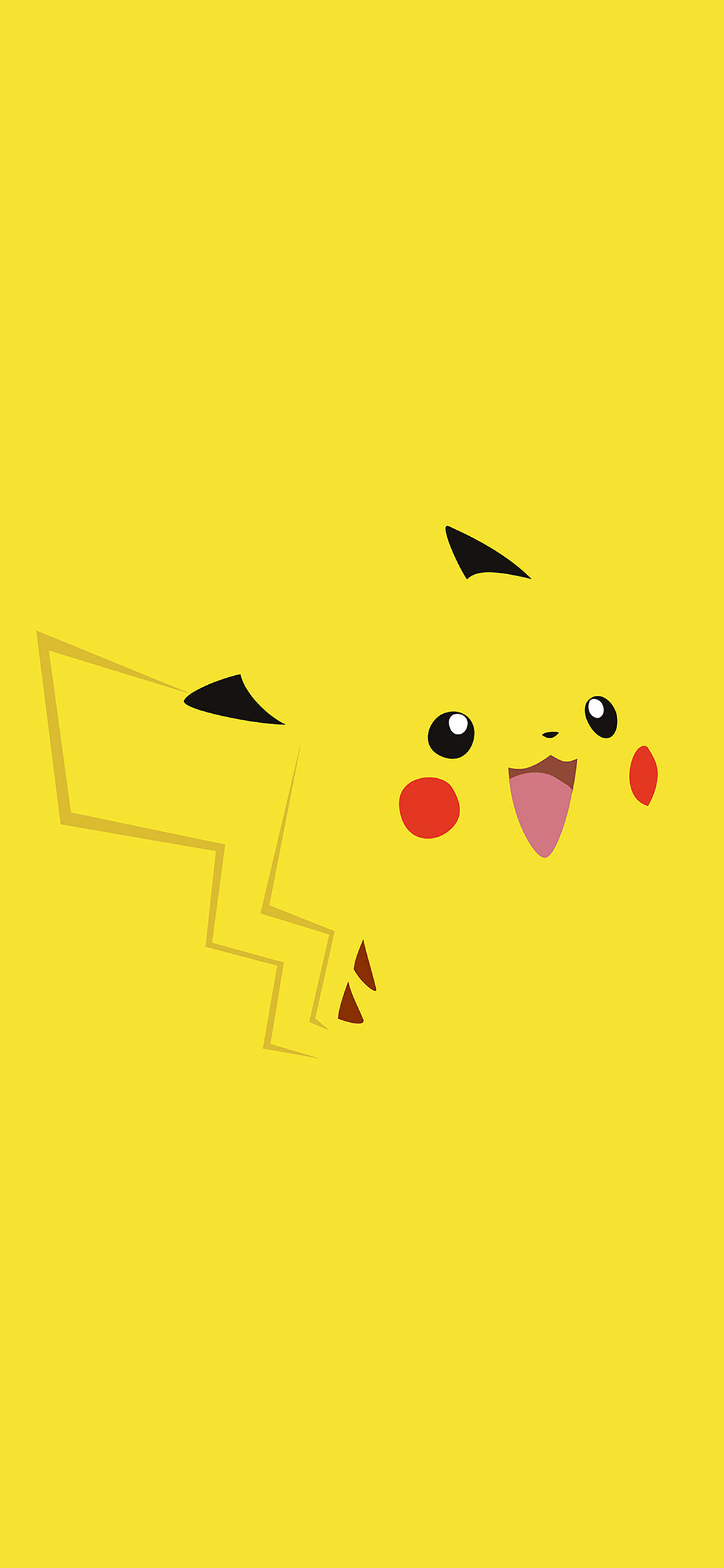 Iphone X Wallpaper For Note 8 Aa35 Pika Pikachu Illust Minimal Art Papers Co