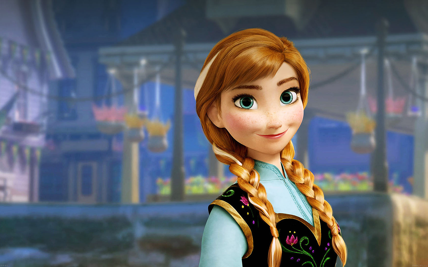 Cute Cartoon Hd Wallpapers For Android Aa46 Anna Frozen Illust Disney Art Papers Co