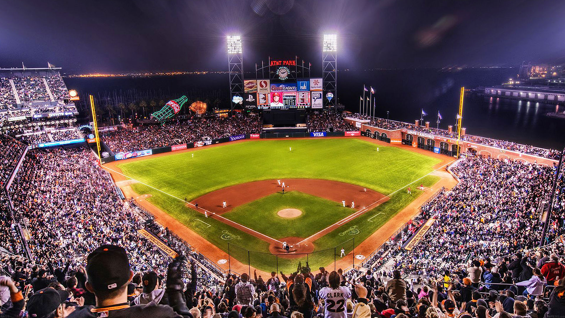 4k Christmas Wallpaper Iphone X Aa57 Baseball Stadium Sports Art Papers Co