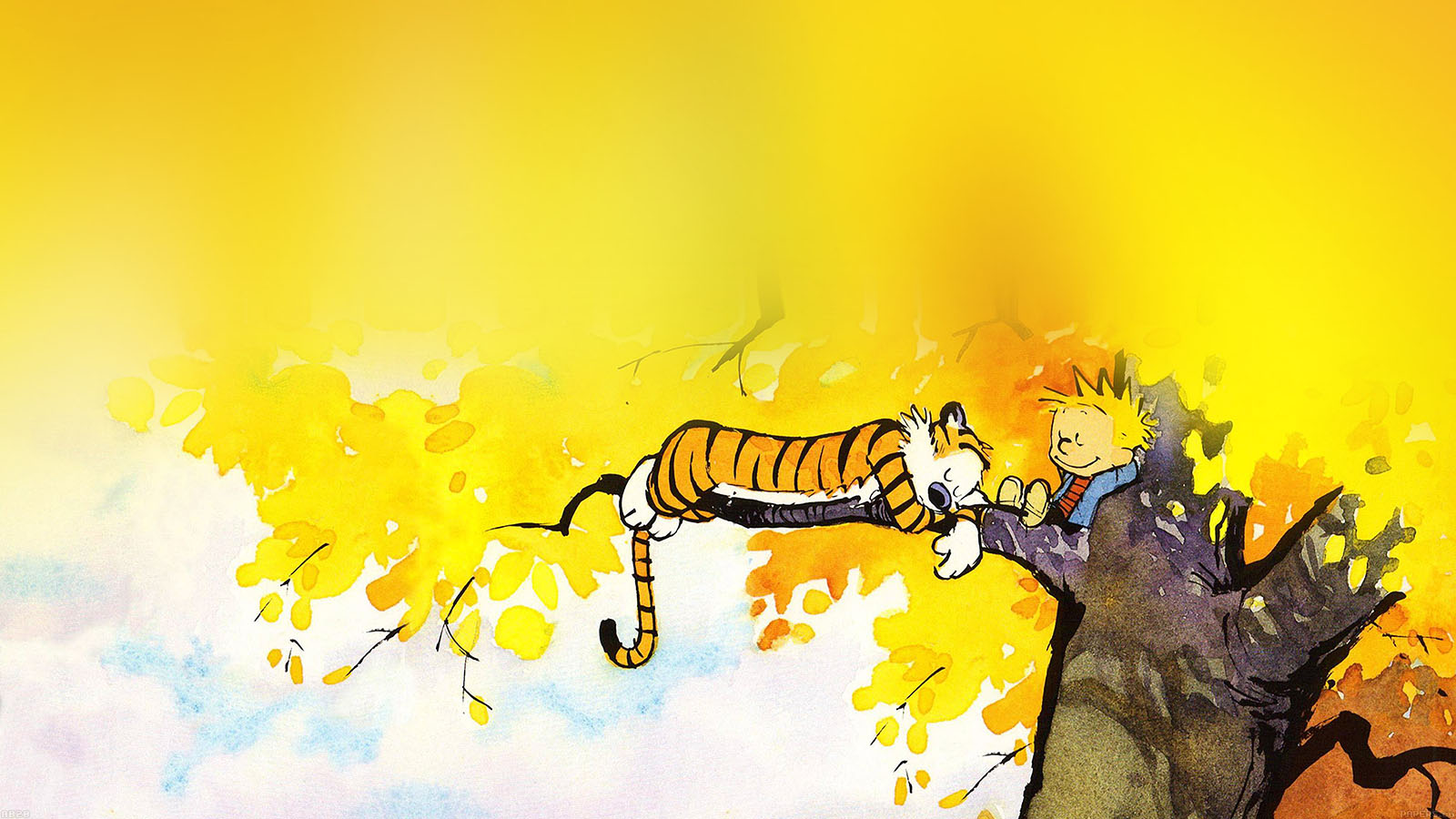 Macbook Wallpaper Fall Ab20 Wallpaper Calvin And Hobbes Nap Illust Papers Co
