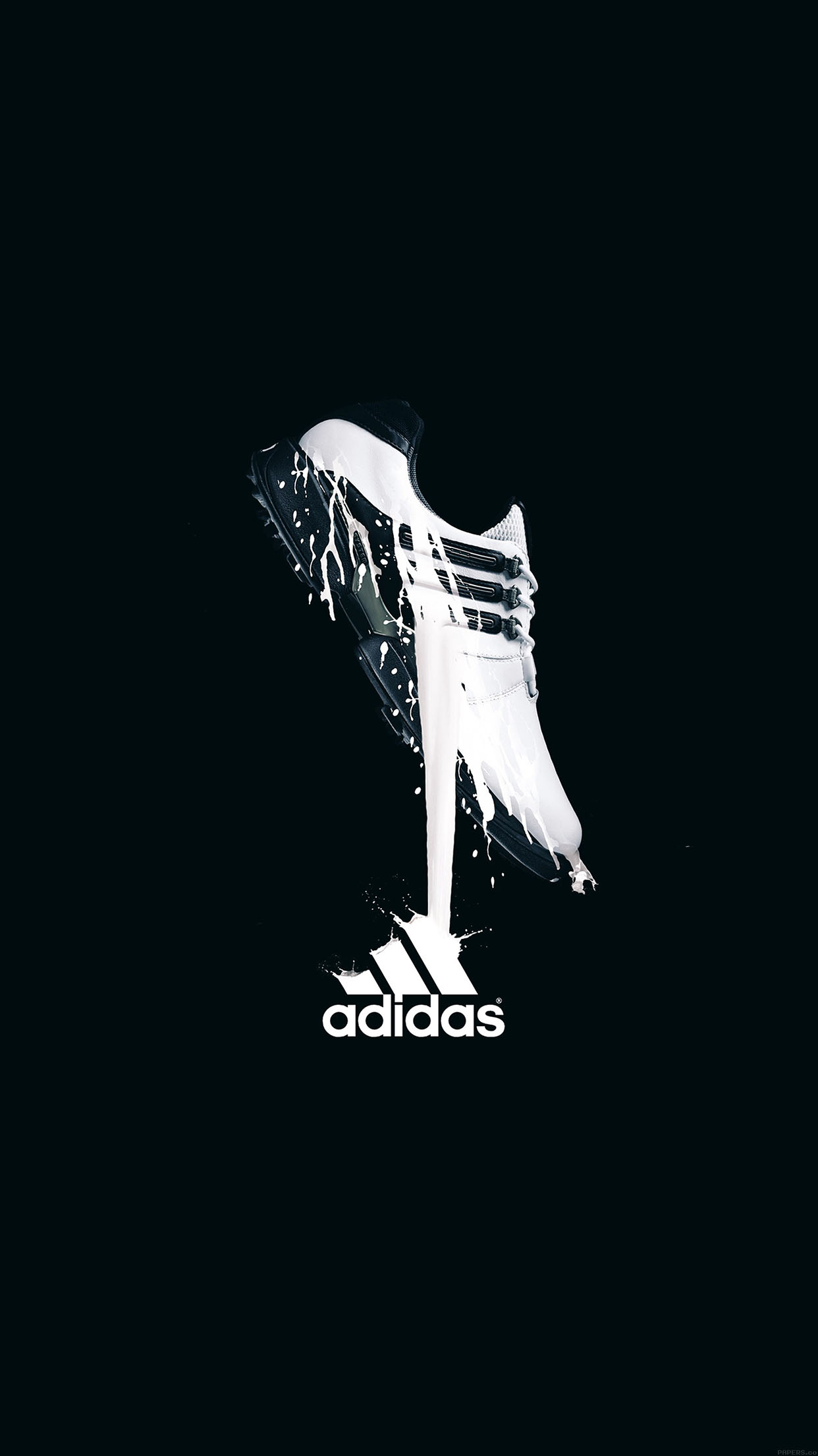 Real Madrid Iphone 4 Wallpaper Ab48 Wallpaper Adidas Black Logo Sports Papers Co