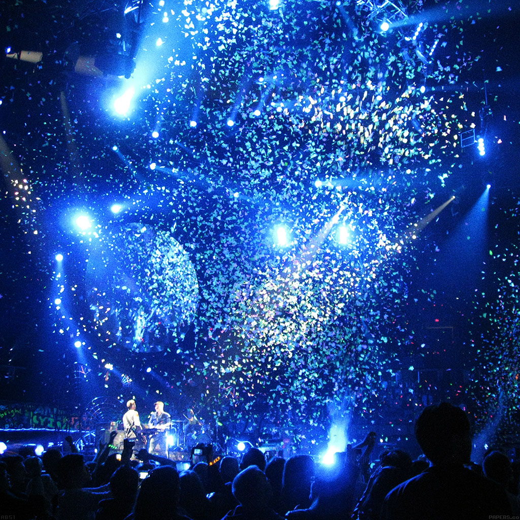 Live Photo Wallpaper Iphone Se Ab51 Wallpaper Coldplay Concert Blue Papers Co
