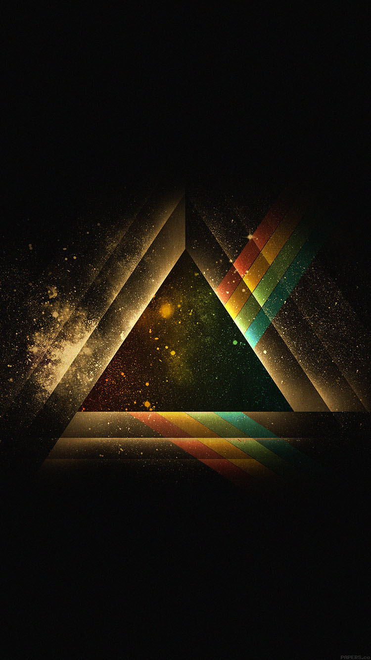 Galaxy Wallpaper Iphone 4 Ac07 Wallpaper Triangle Art Rainbow Illust Graphic Papers Co