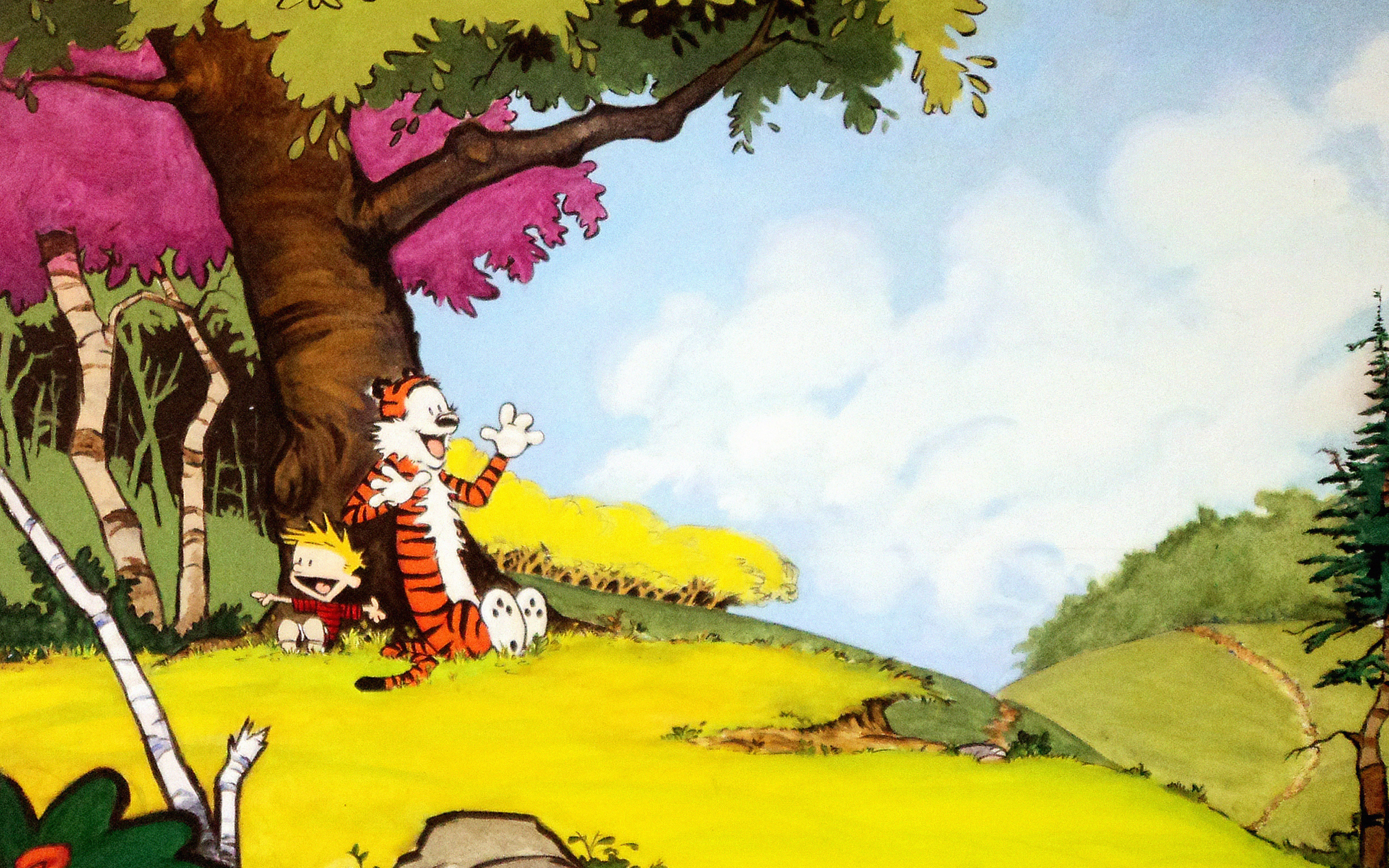 Calvin And Hobbes Fall Wallpaper Ac48 Wallpaper Calvin And Hobbes After Nap Papers Co