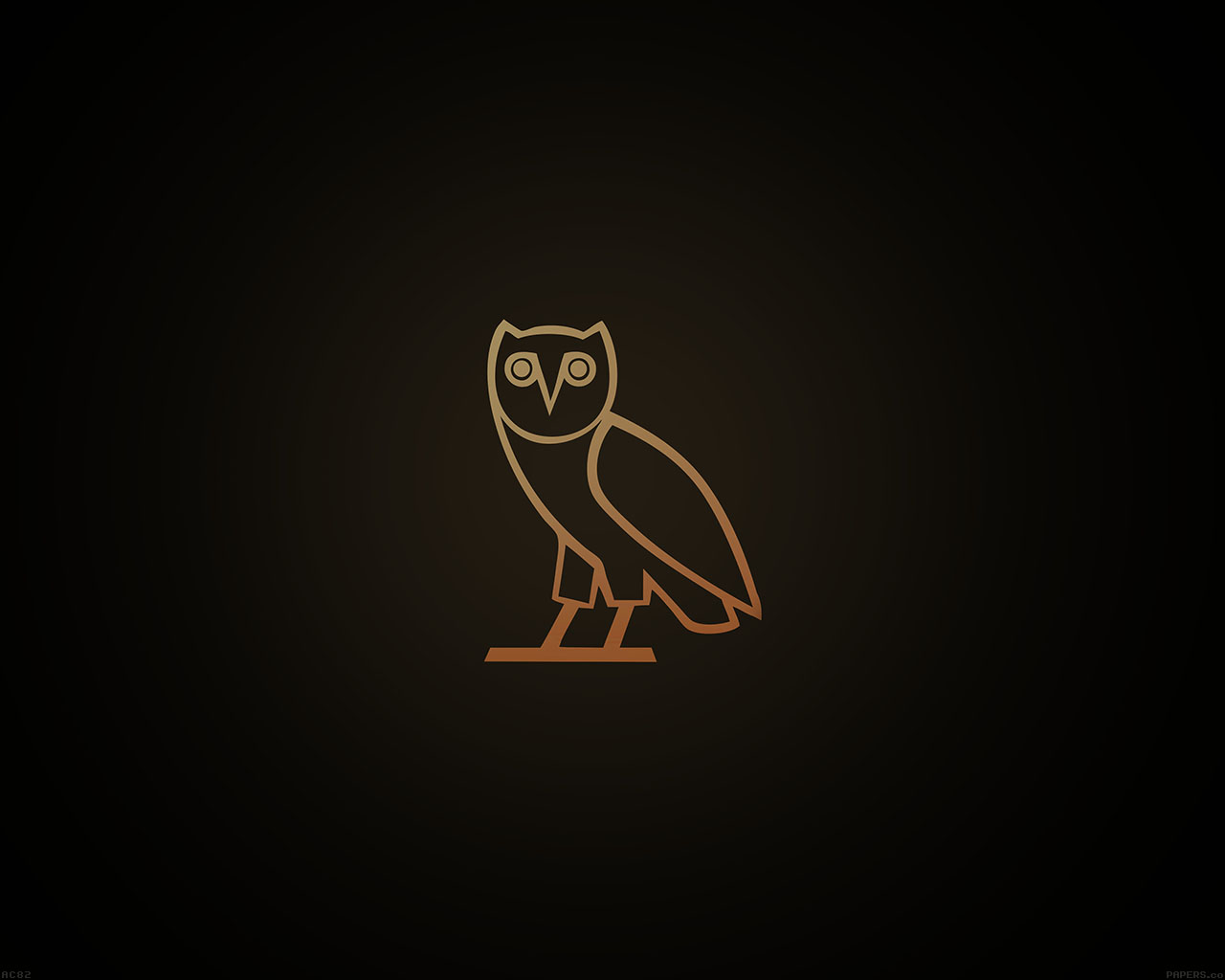 Fall Wallpaper For Laptop Ac82 Wallpaper Ovo Owl Logo Dark Minimal Papers Co