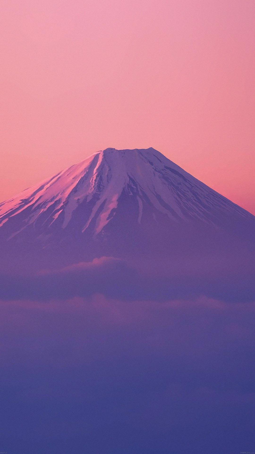 Cute Pink Wallpaper For Iphone 6 Ad51 Fuji Mountain Alone Wallpaper