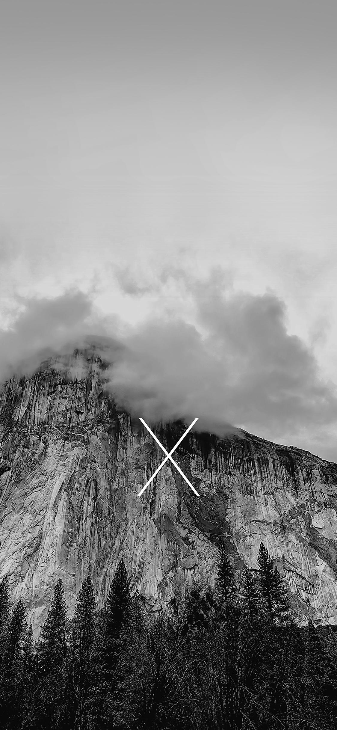 Car Wallpaper Hd  Ae29 Os X Yosemite Mac Apple Black White Mountain Wallpaper