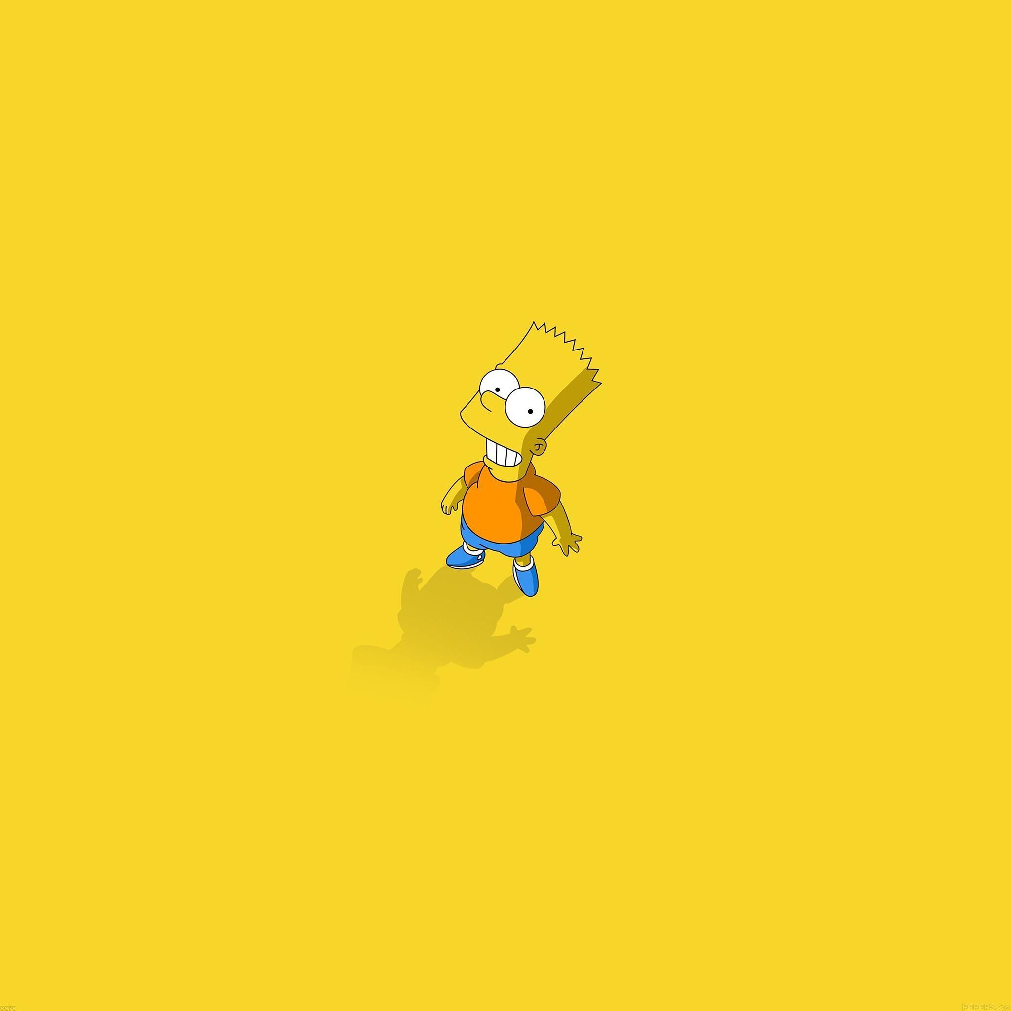 Simpsons Iphone X Wallpaper Af48 Hi I Am Bart Simpsons Minimal Cartoon Papers Co
