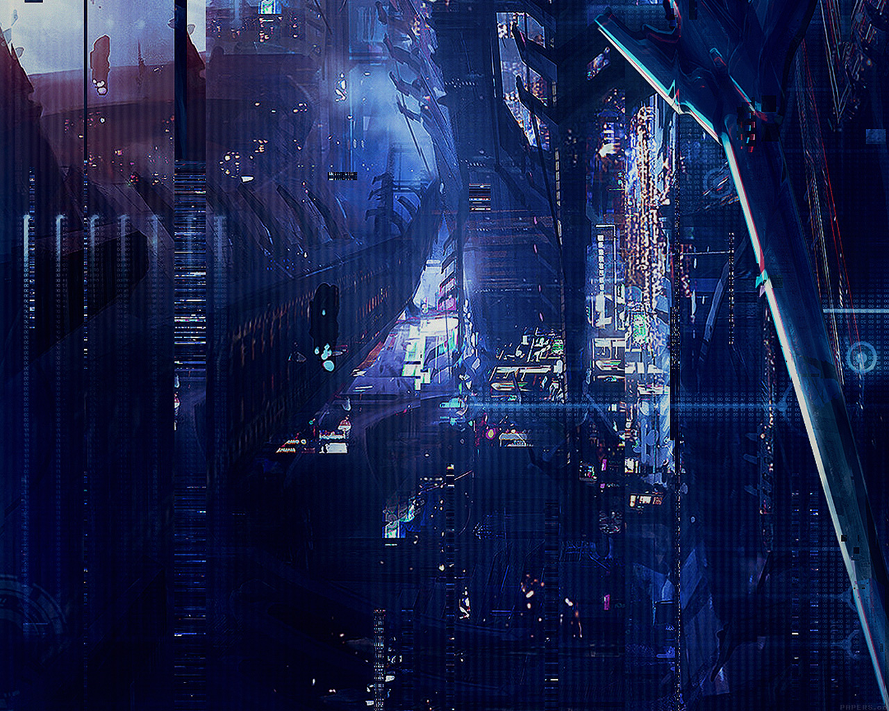 Fall Wallpaper Ipad Pro Af77 Digital World Anime Art Illust Urban Papers Co