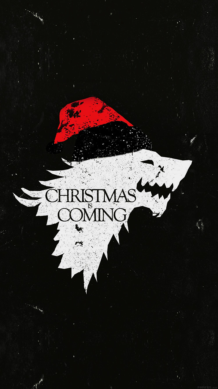 Game Of Thrones Iphone Wallpaper Hd Ag24 Christmas Is Coming Dark Game Of Thrones Art Wallpaper