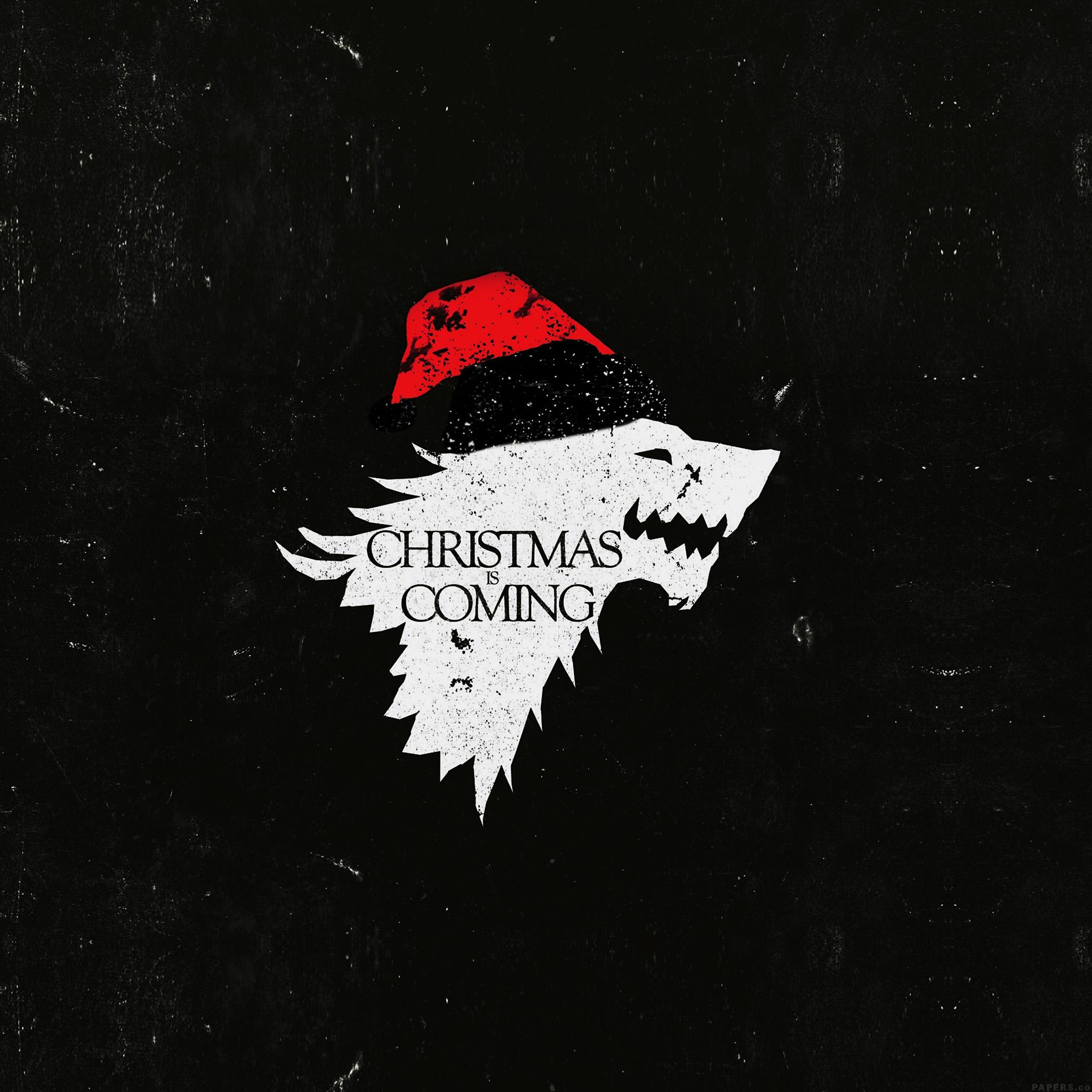 Xmas Wallpaper Iphone Ag24 Christmas Is Coming Dark Game Of Thrones Art Wallpaper