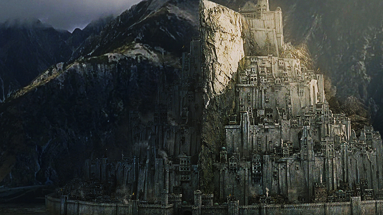Free Wallpaper Fall 1600x900 Ag25 Minas Tirith Lord Of The Ring Art Papers Co