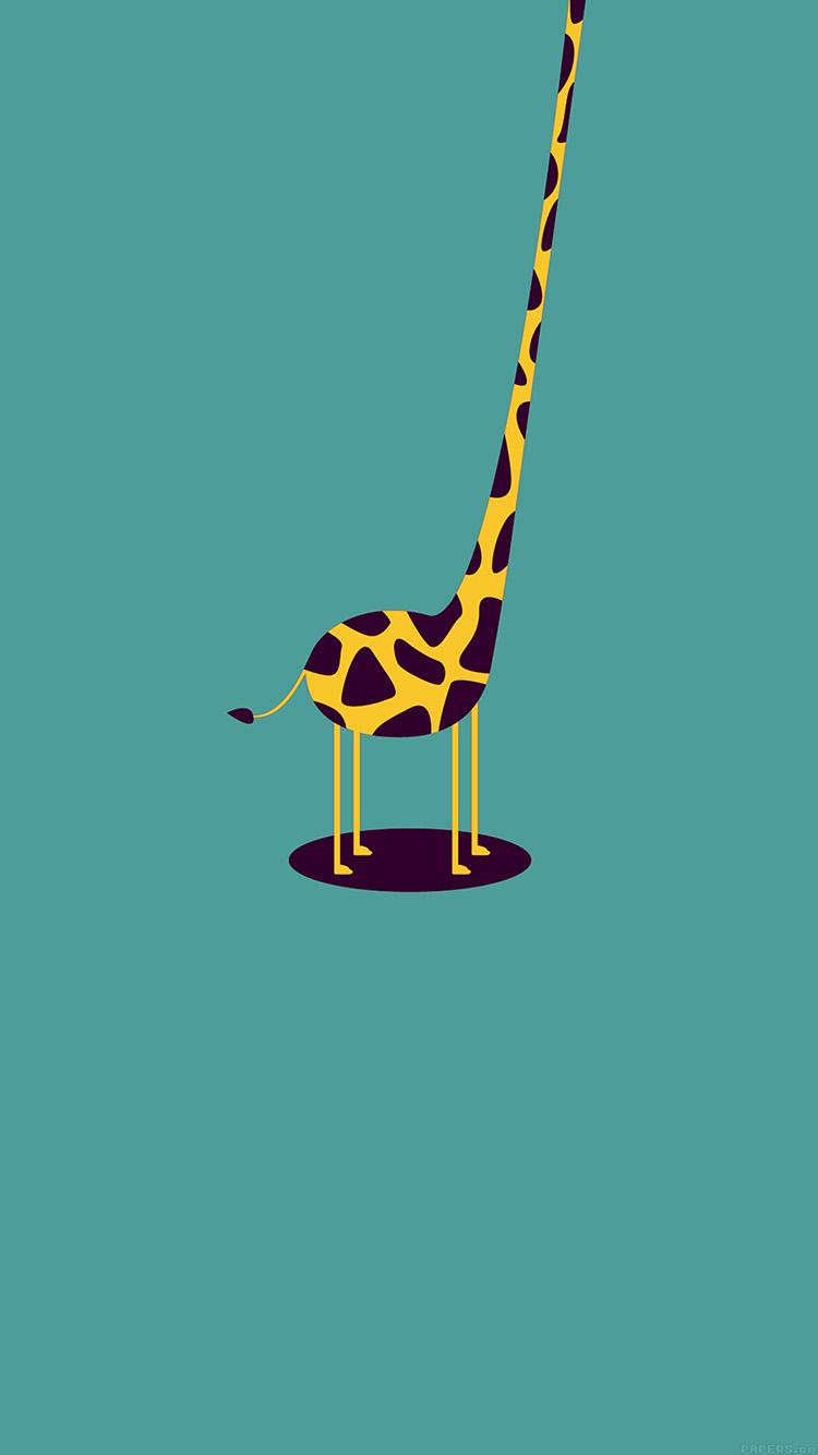 Giraffe Iphone Wallpaper Ag52 Giraffe Cute Blue Minimal Simple Wallpaper