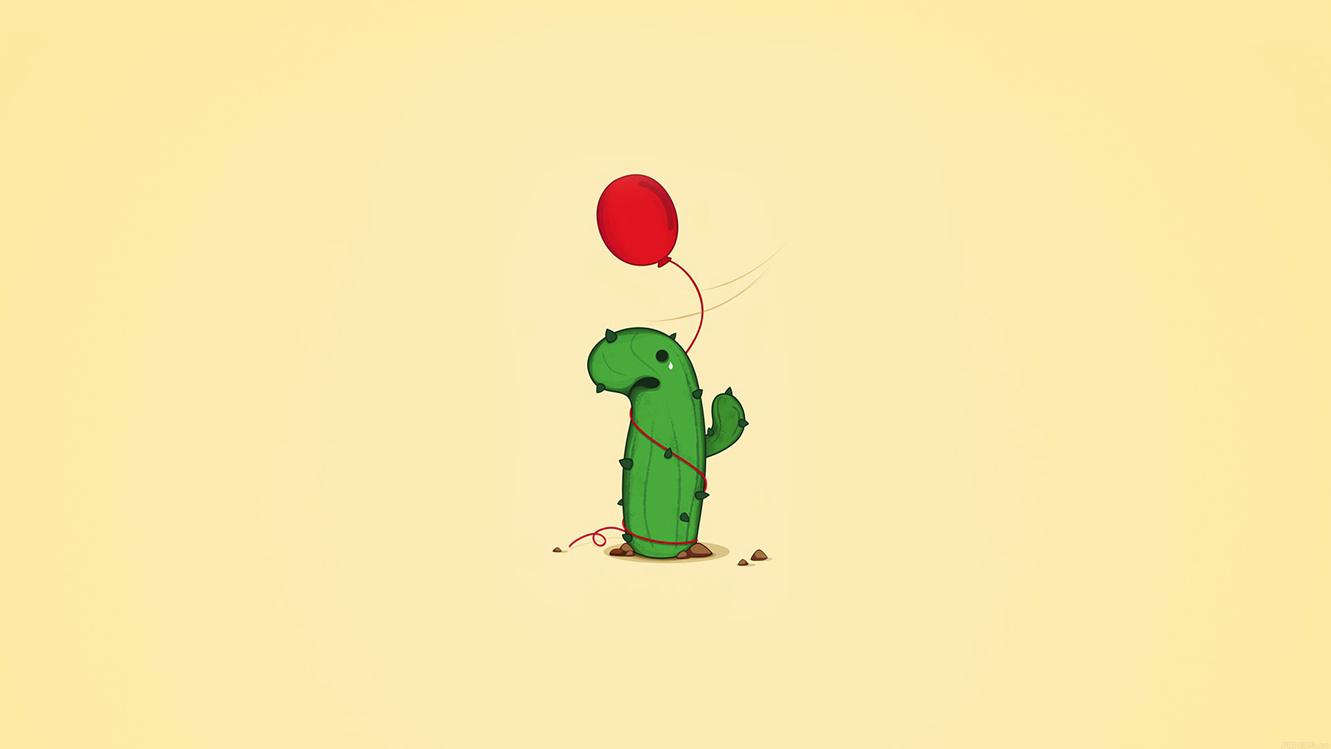 Fall And Winter Wallpaper Ai35 Cute Cactus Ballon Illust Art Minimal Papers Co