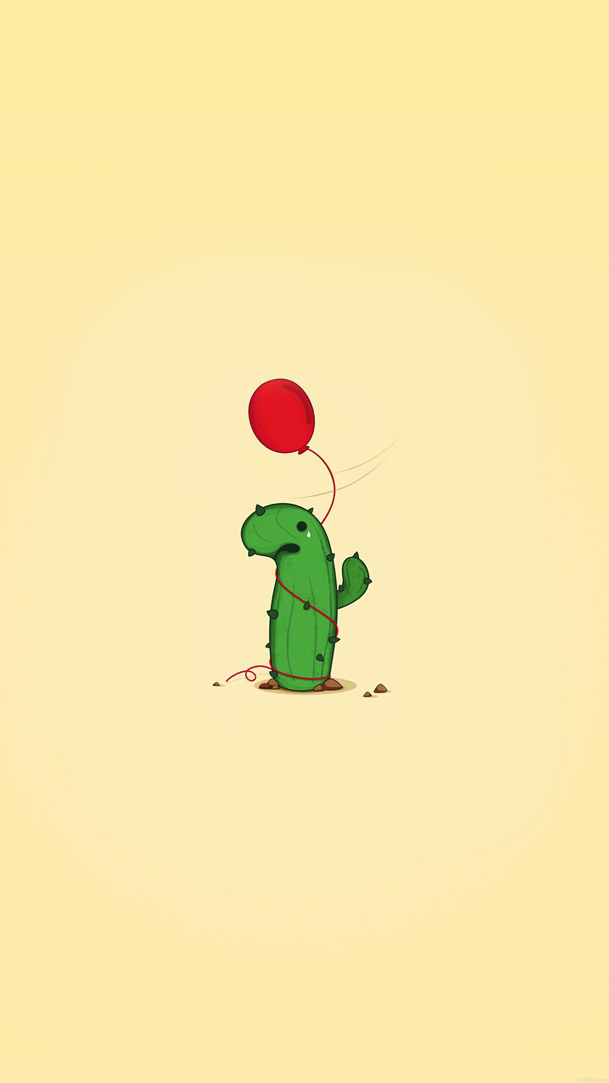 Cute Pickle Wallpaper Ai35 Cute Cactus Ballon Illust Art Minimal Papers Co