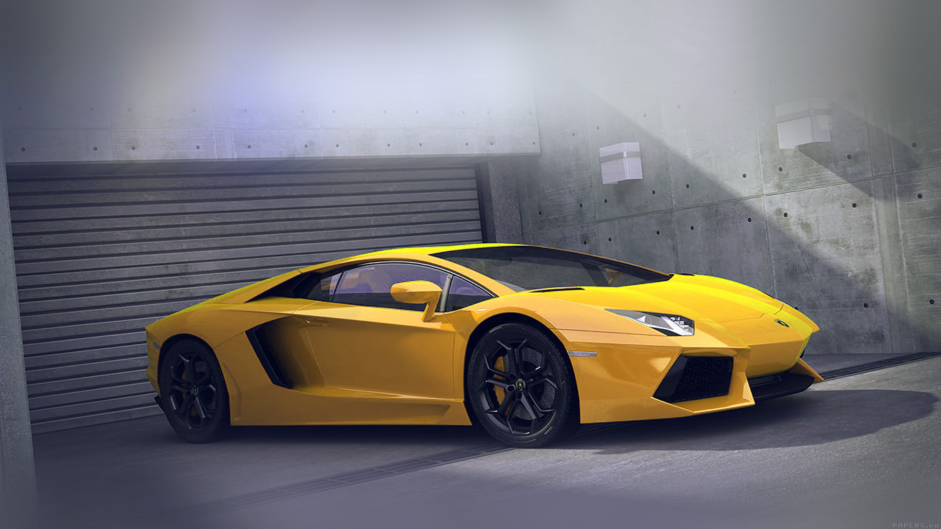 Fall Abstract Wallpaper Ai90 Yellow Lamborghini Parked Car Art Papers Co