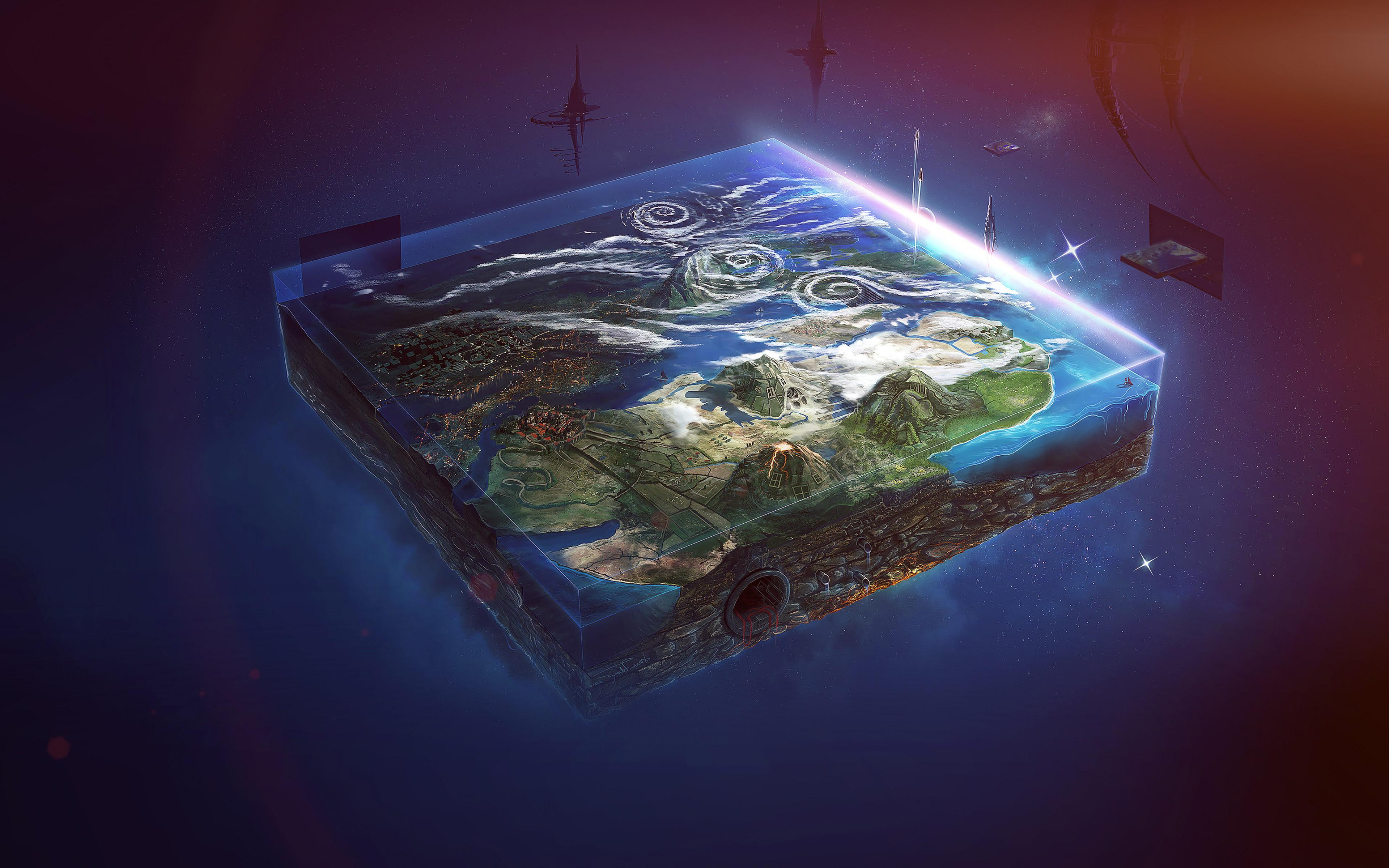 Cute Map Wallpaper Ai95 Flat Earth Art Flare Illust Space Wallpaper