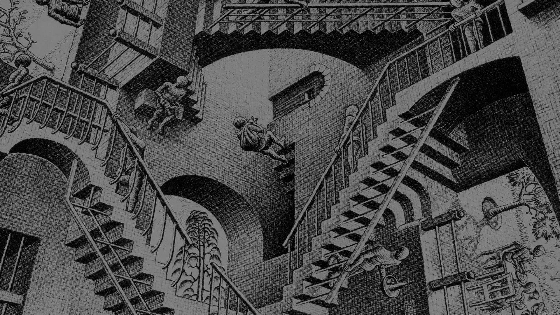 Fall Mac Wallpaper Aj05 Escher Art Drawing Illust Papers Co