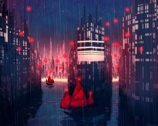 anime rainy illust desktop wallpapers