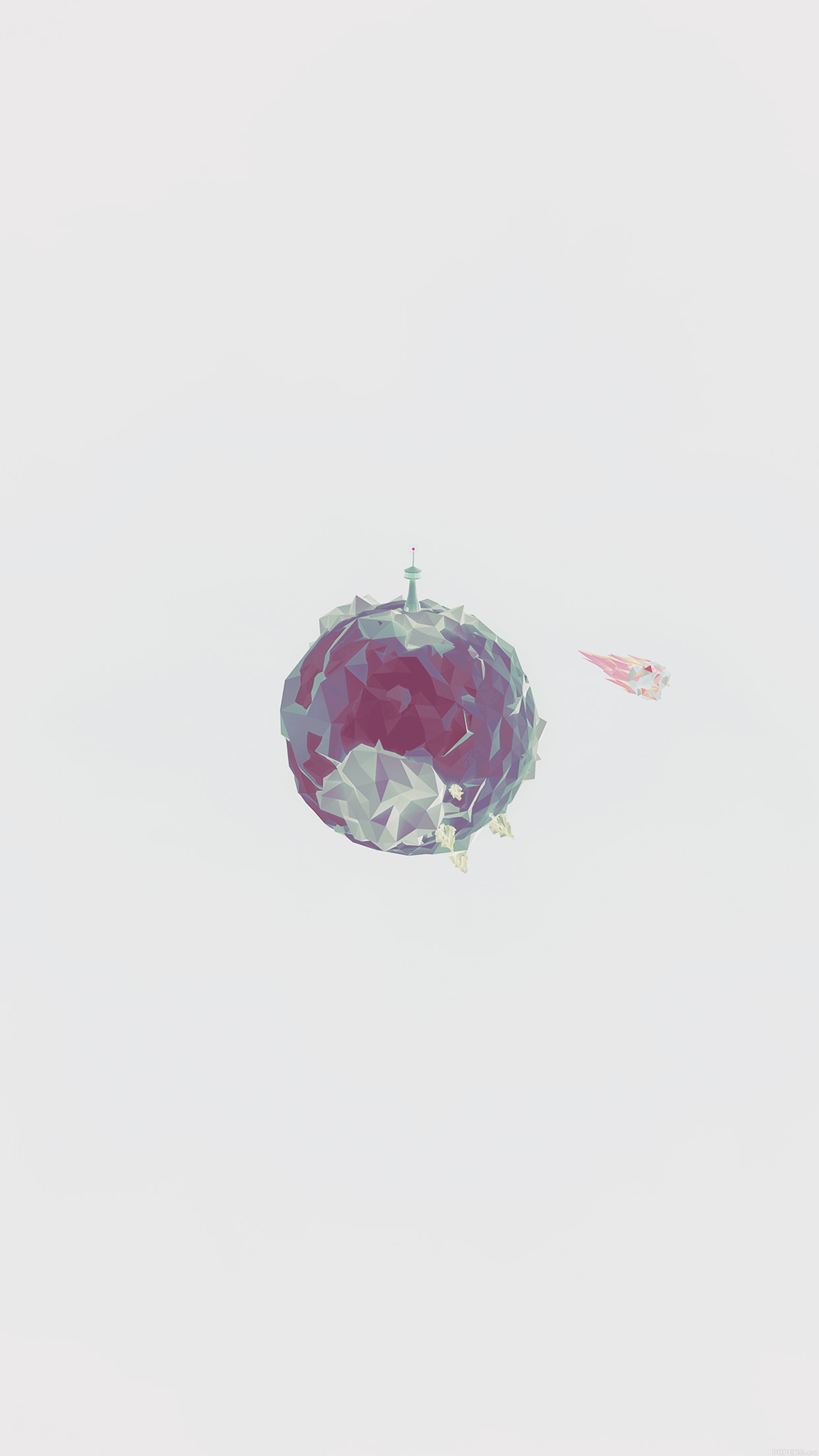 Iphone Wallpaper Cloud Aj33 Polygon Planet Cute Minimal Simple Art White Wallpaper
