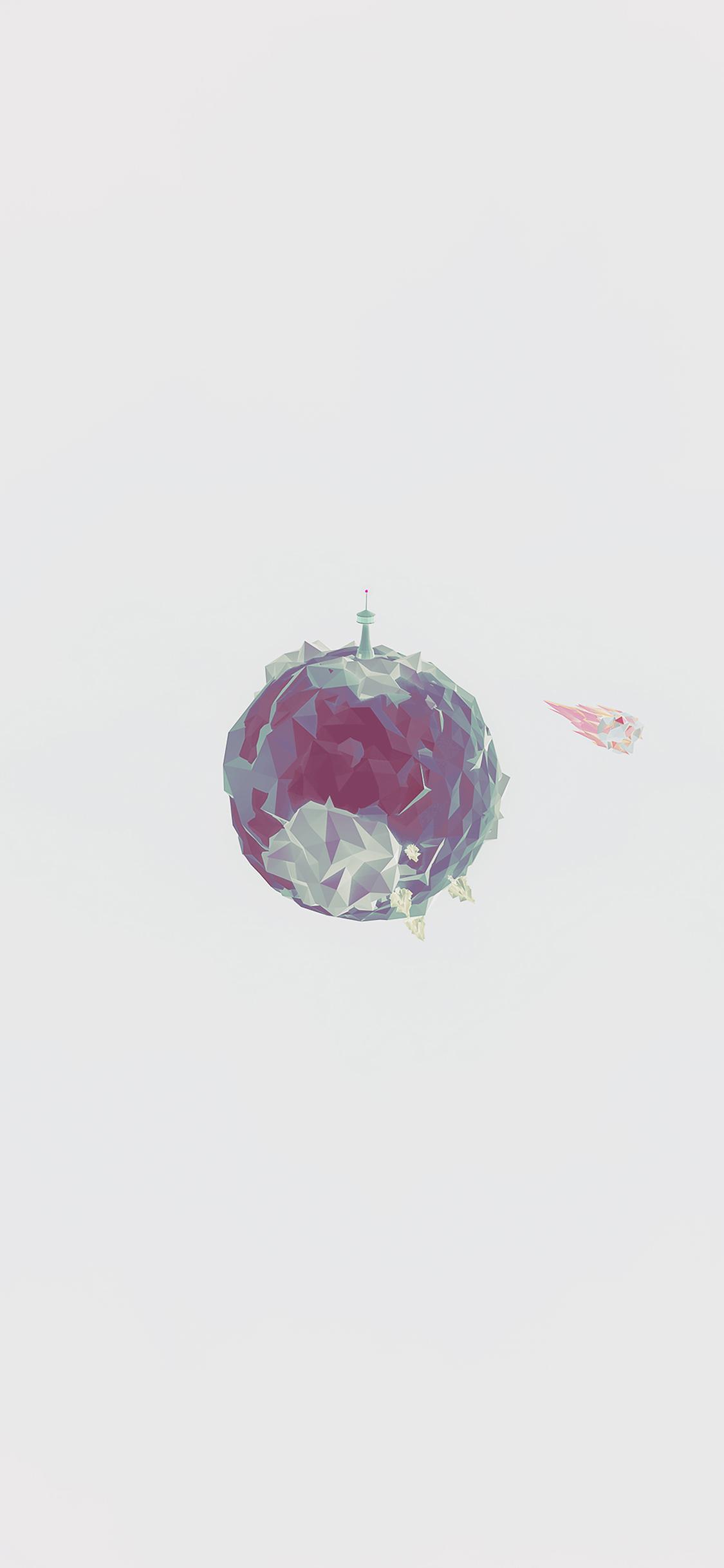 Cute Disney Quotes Wallpapers Aj33 Polygon Planet Cute Minimal Simple Art White Wallpaper