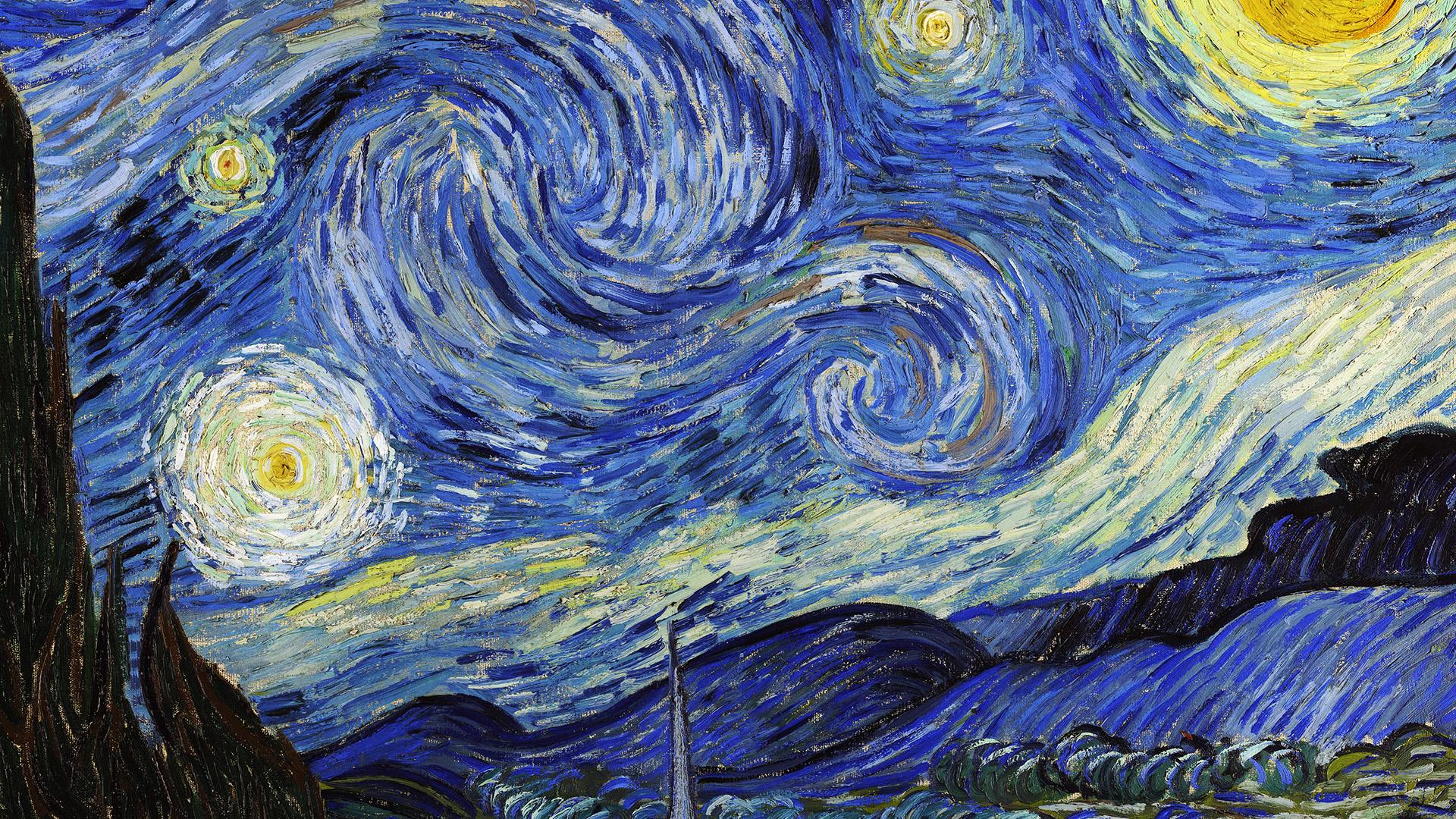 Fall Desktop Wallpaper Windows 7 Aj42 Vincent Van Gogh Starry Night Classic Painting Art