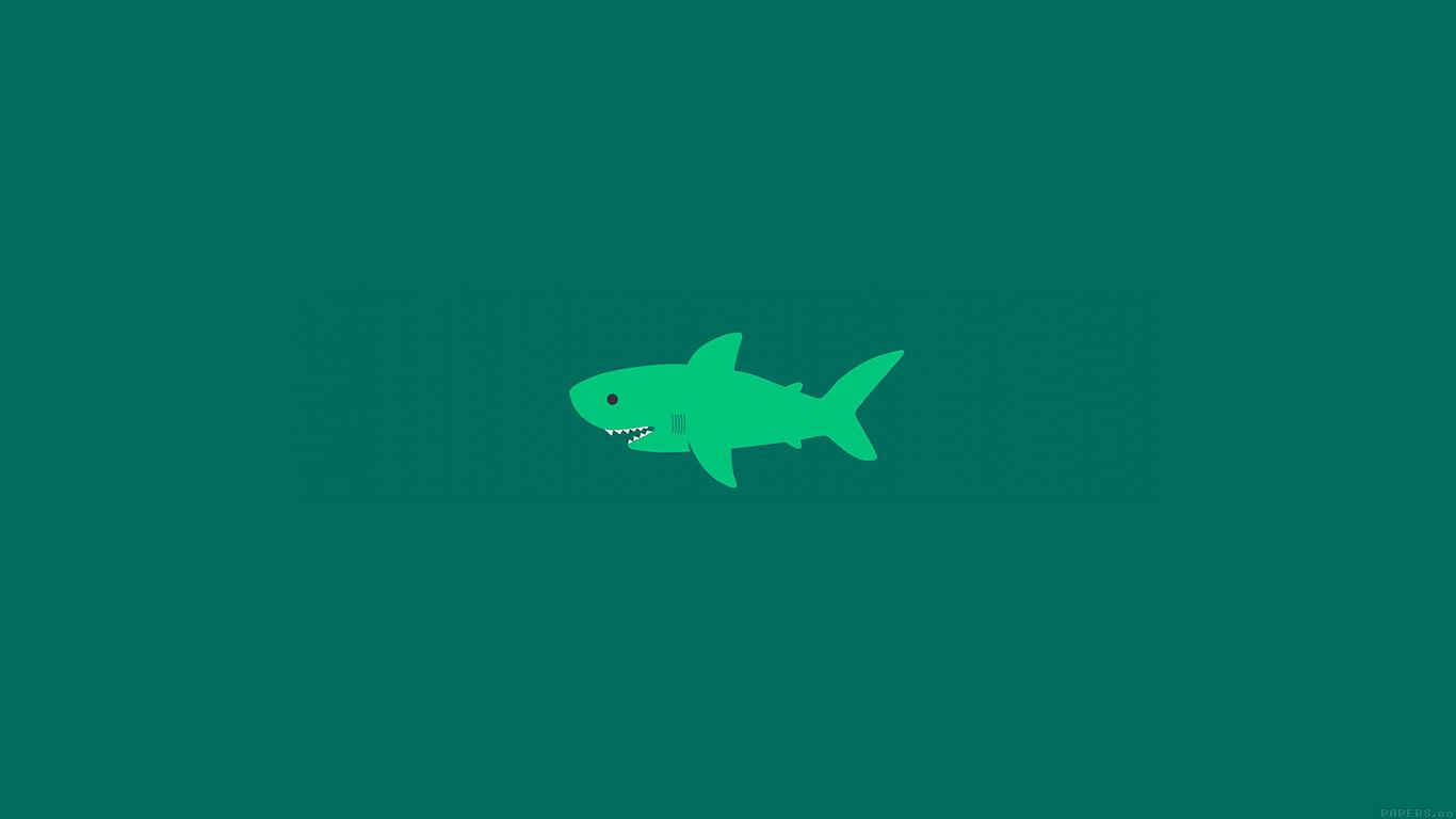 Cartoon Images Fall Wallpaper Ak02 Little Small Cute Shark Green Minimal Wallpaper