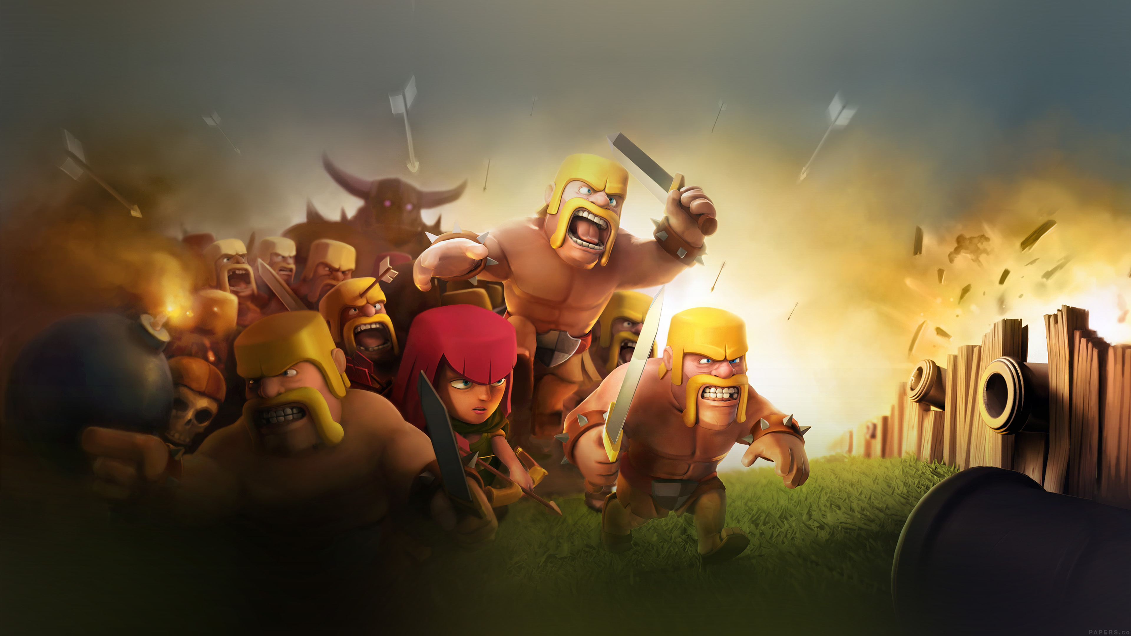 Simple Fall Hd Wallpaper Ak27 Clash Of Clans War Game Art Illust Cute Papers Co