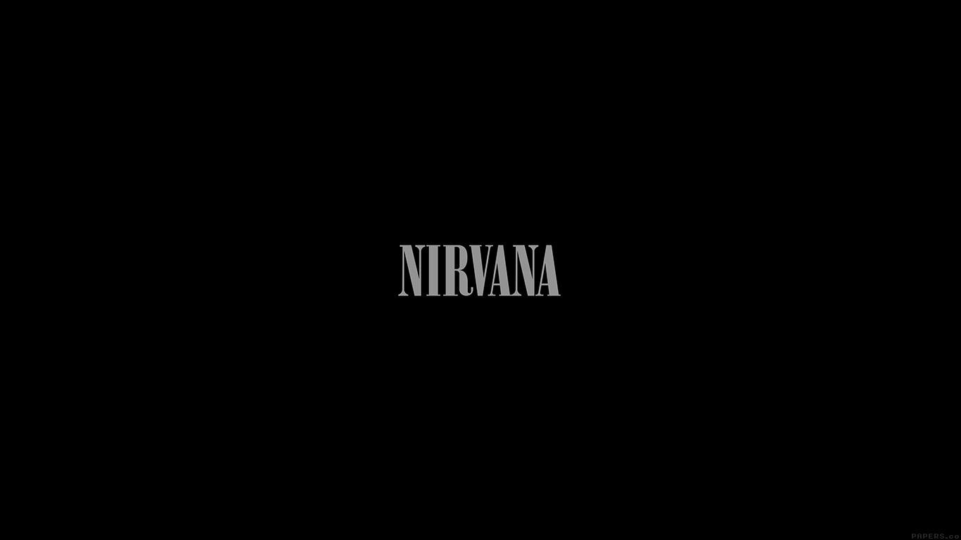 Equalizer Wallpaper Hd Ak78 Nirvana Dark Logo Simple Minimal Music Wallpaper
