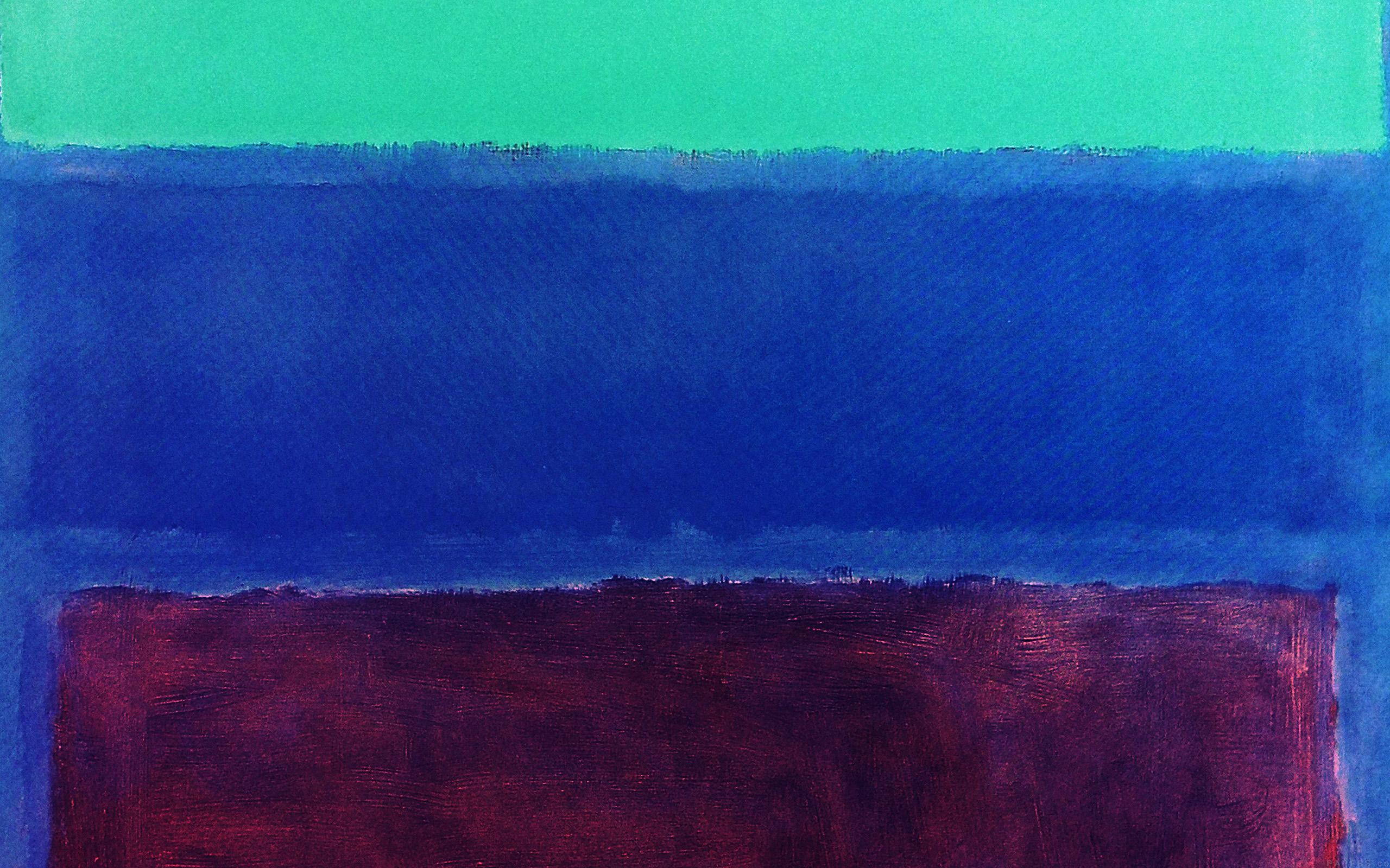 Cute Christmas Color Wallpaper Al61 Mark Rothko Style Paint Art Greeb Blue Classic Wallpaper