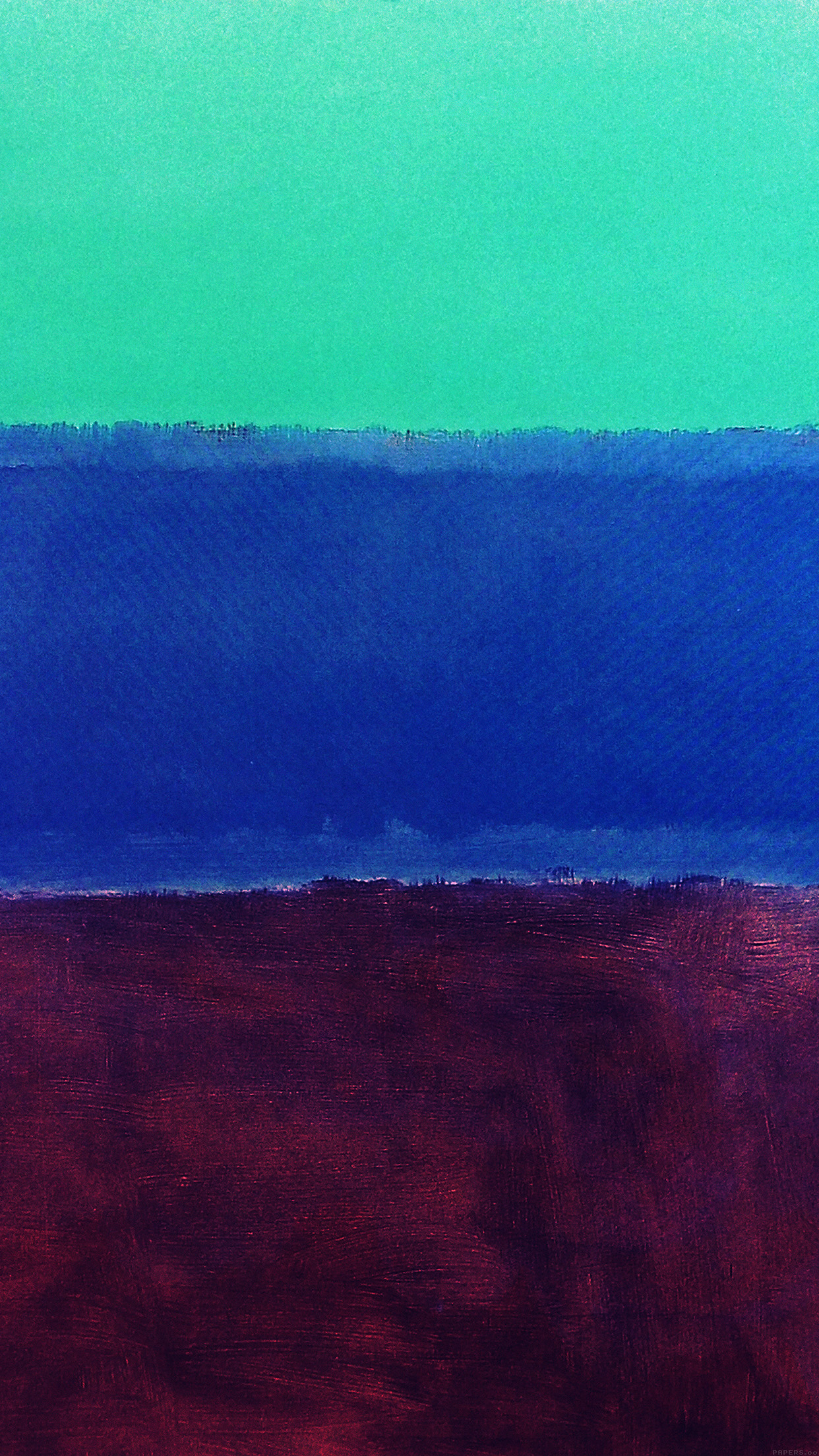 Cute Wallpapers For Iphone X Al61 Mark Rothko Style Paint Art Greeb Blue Classic Wallpaper