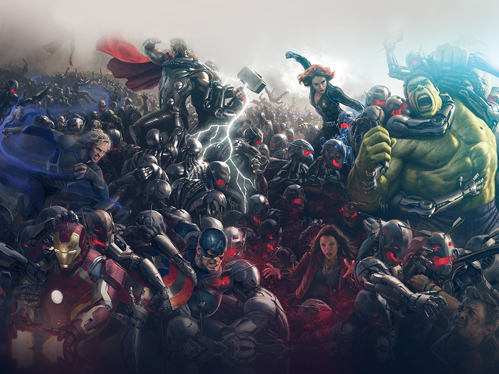 Fall Desktop Mountain Wallpaper Al93 Avengers Marvel Hero Ultron Flare Art Wallpaper