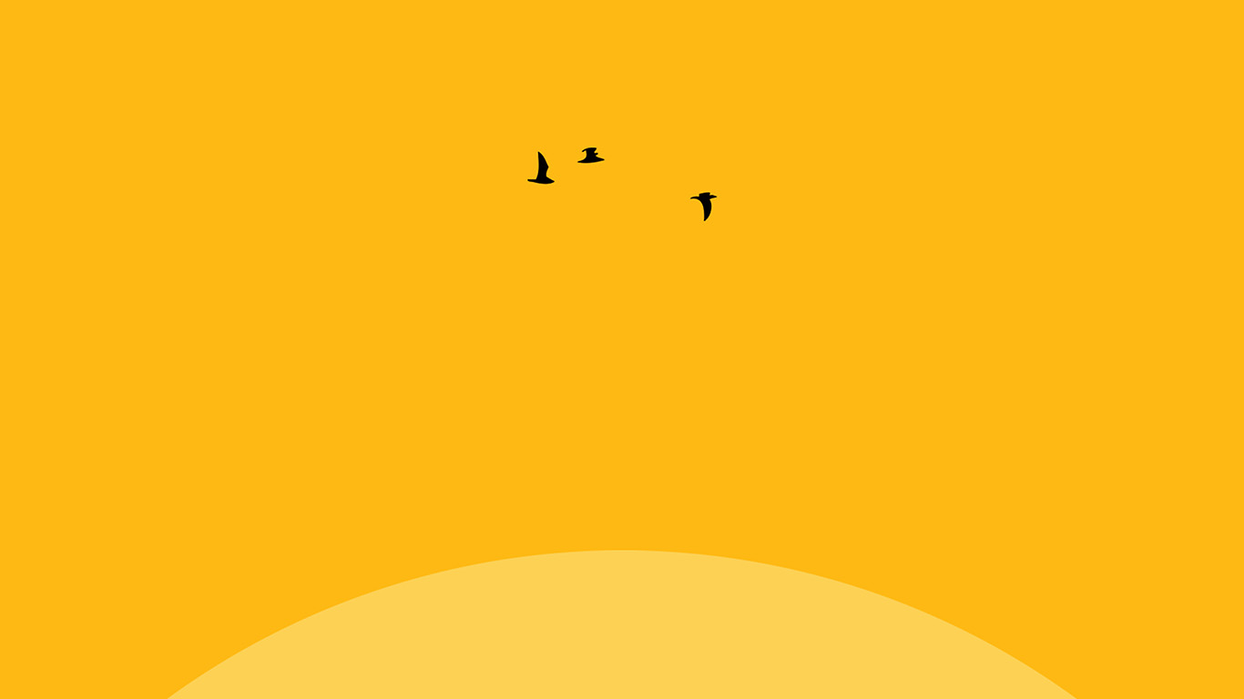 Minimalist Iphone X Wallpaper Hd An22 Sunset Yellow Bird Minimal Papers Co