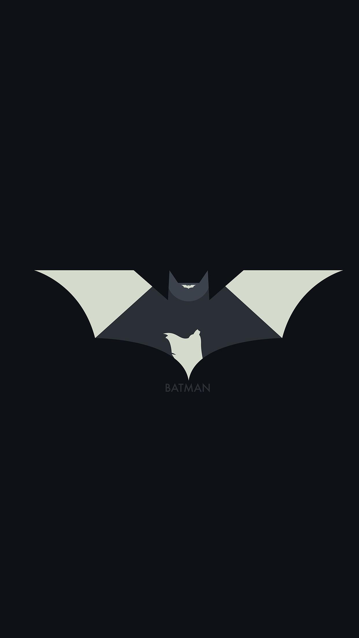 Lg Animated Wallpaper Ao28 Hugoli Art Batman Minimal Logo Illust Dark Wallpaper