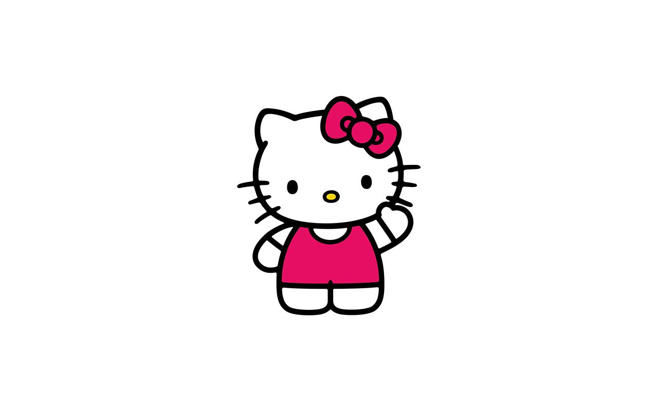 Hello Kitty Fall Wallpaper Ao80 Hello Kitty Art Cute Logo Minimal Papers Co