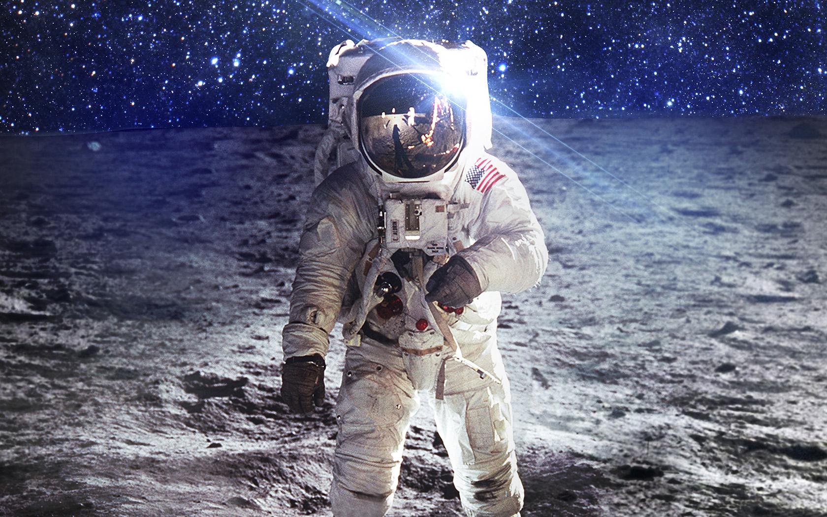 Desktop Wallpaper Fall Images Ao97 Astronaut Space Art Moon Dark Papers Co