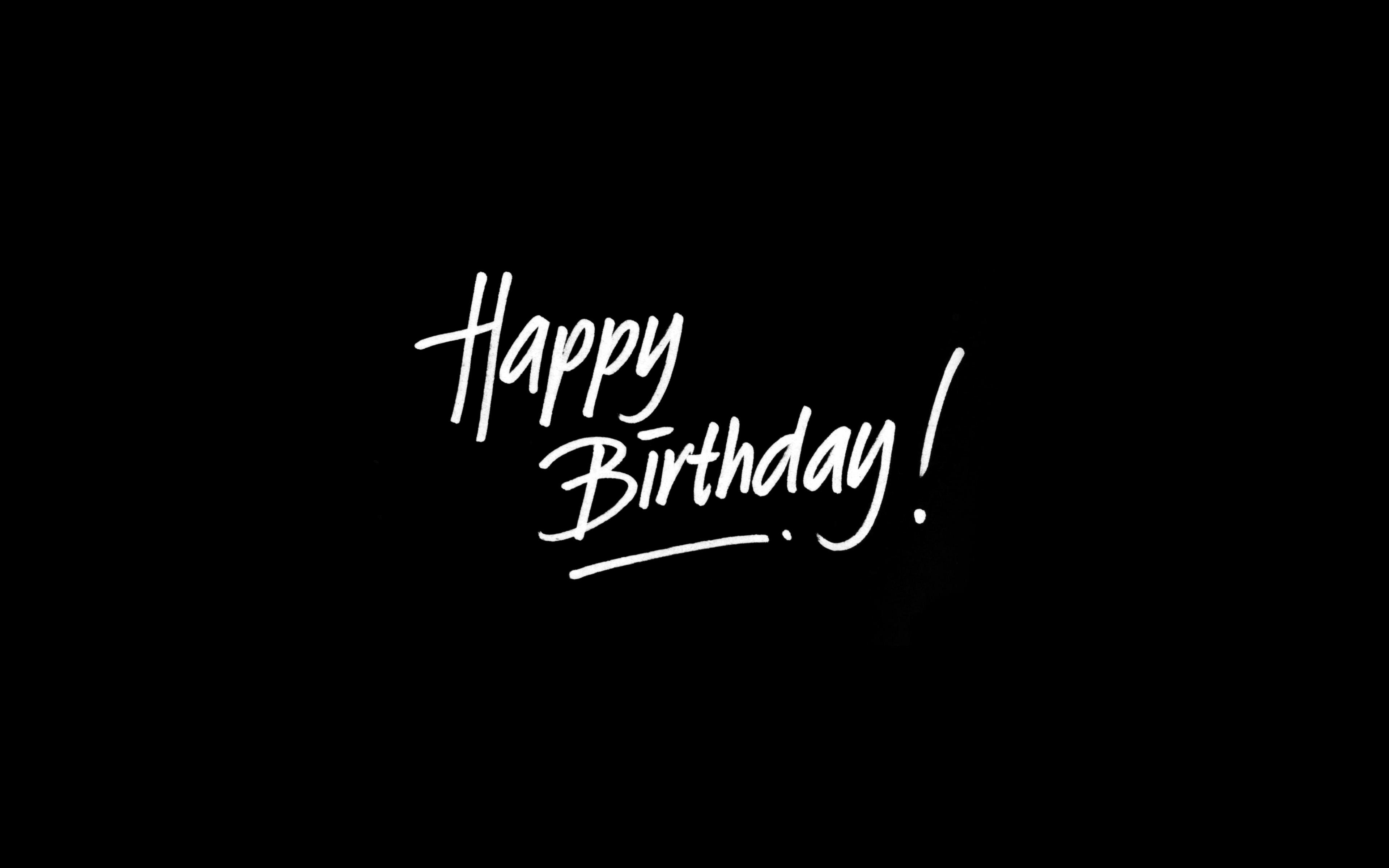 Ap54 Happy Birthday Dark Event Writing Wallpaper