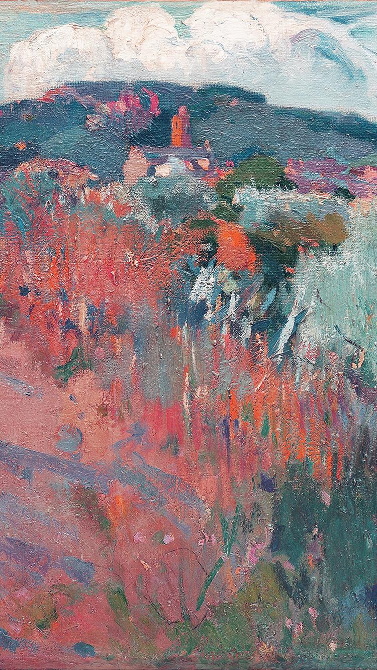 Car Wallpaper Aq34 Joaquim Mir Horse Classic Painting Art Red Wallpaper