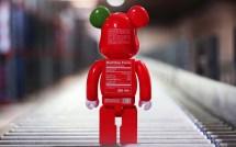 Wallpaper Desktop Laptop Aq35-bearbrick-toy-red-art