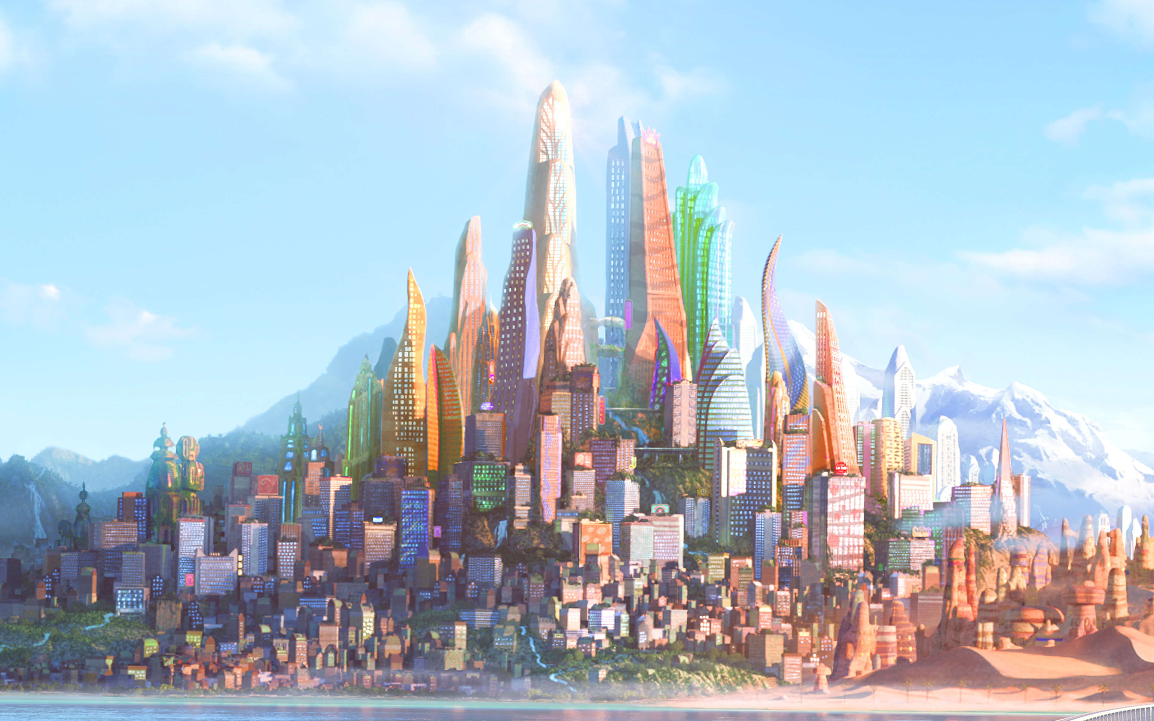 Fall Wallpaper For Macbook Pro Aq42 Art Zootopia Disney City Wallpaper