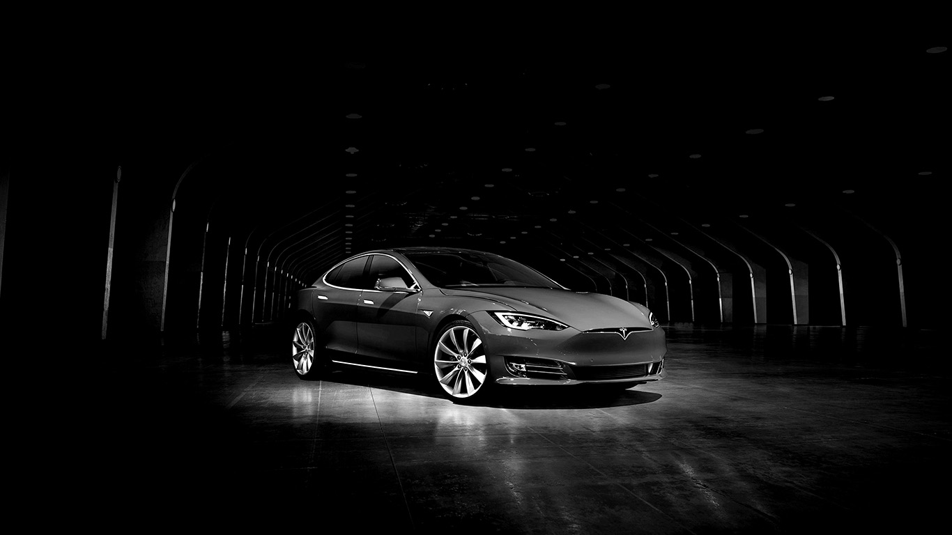 Fall Desktop Mountain Wallpaper Aq54 Tesla Model Dark Bw Car Wallpaper