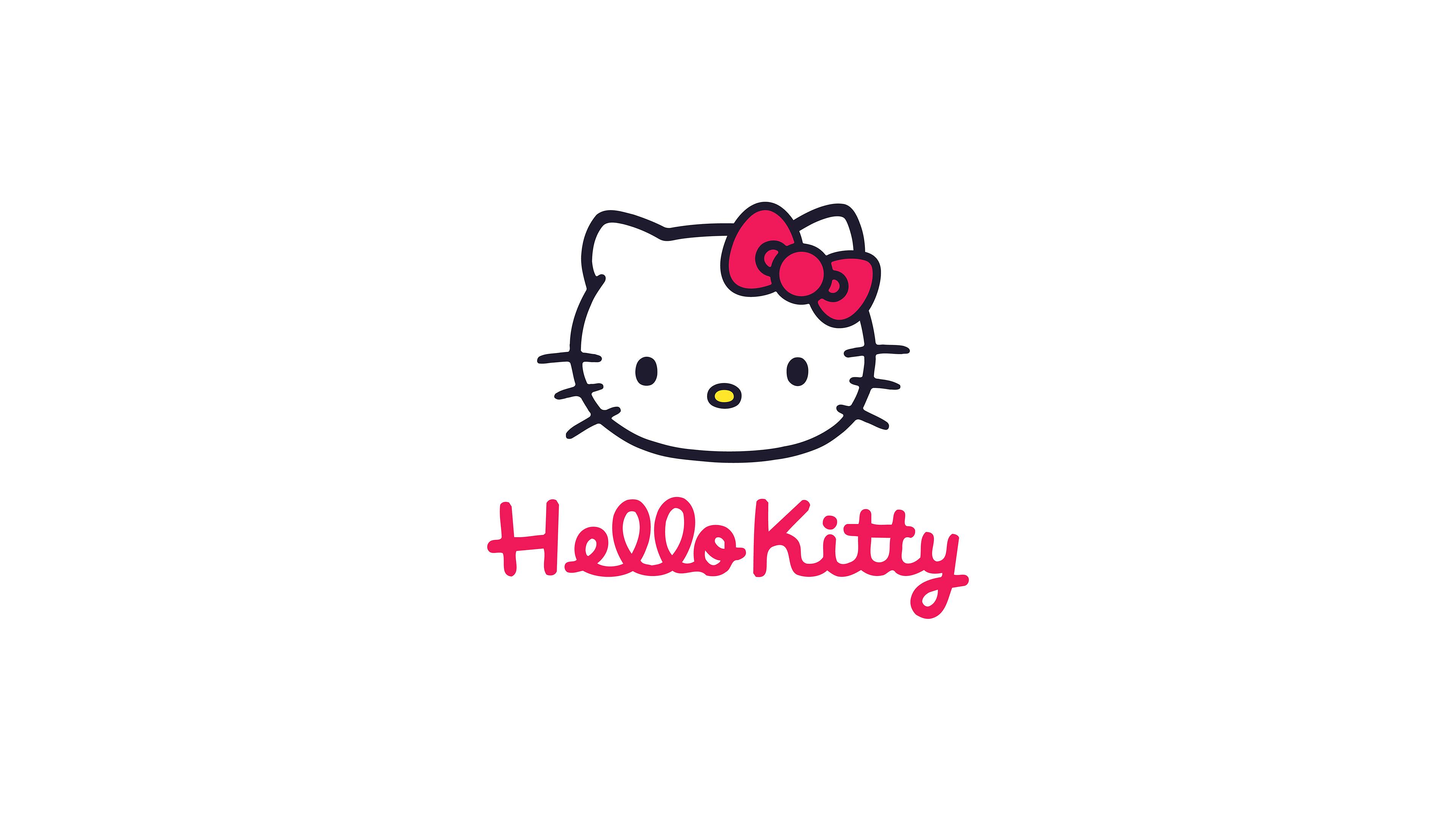 Pink Fall Desktop Wallpaper Aq67 Hello Kitty Logo Art Cute White Wallpaper