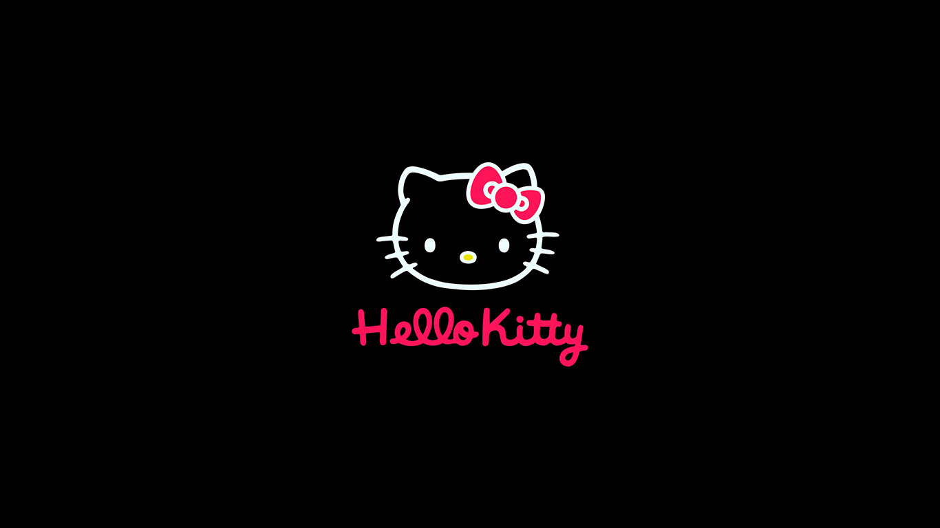 Hello Fall Wallpaper Macbook Pro Aq68 Hello Kitty Logo Art Cute Dark Wallpaper